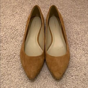 GH Bass tan suede flats size 6.5